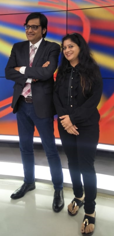 Tripti Shetty With Arnab Gowasami